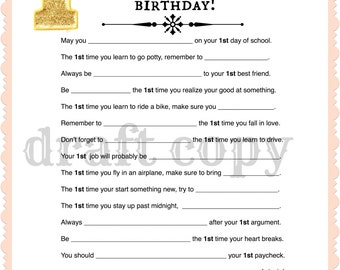 1st Birthday Party Game