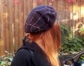 Big Felted Beret Felt Hat black  Wool merino, Warm and beauty