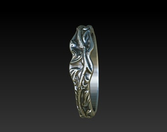 Leaves ring.leaf vine ring.dress ring. Wedding ring. wedding band. ring. band. promise ring .leaf ring GR6
