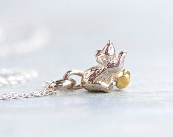 Little Mouse Necklace - Sterling Silver Miniature on Chain