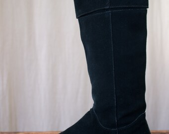 black suede boots - 7 women