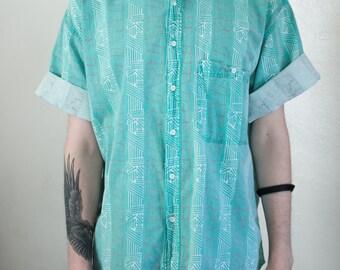 baggy beach shirt - 2X