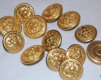 military buttons Waterbury button co Conn. lot of 14 2 sizes  #0207