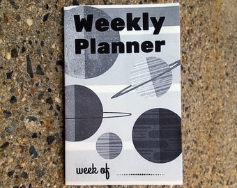 Planetary Weekly Planner Zine