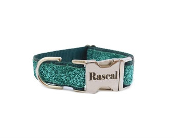 Teal Dog Collar, Sparkle Dog Collar, Bling Dog Collar