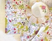Cotton Napkins - Cloth Napkins - Table Linens - Botanical Watercolour, Set of 2