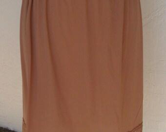 Vintage Half Slip Brown Kayser Size Large