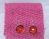 Natural Topaz Stone Silver Plated Dangle Earrings