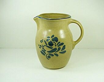 Vintage PFALTZGRAFF FOLK ART Pitcher Milk Juice Stoneware 36 oz