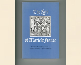Lais of Marie de France, First Major Woman Writer in Medieval Europe European Literature Verse Stories Vintage Book Paperback Format