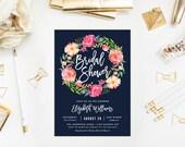 Summer Night Bridal Shower Invitation