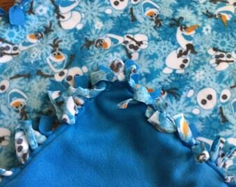 SALE Fleece Blanket - Frozen Olaf Knotted Fleece Blanket