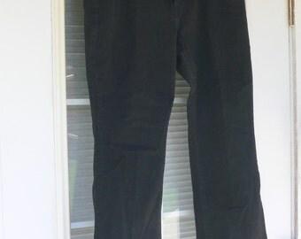 levis mens black jeans boot cut pants size 36 x30