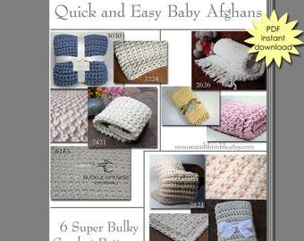 Quick & Easy Baby Blankets - Super Bulky - Crochet PATTERN eBOOK 6
