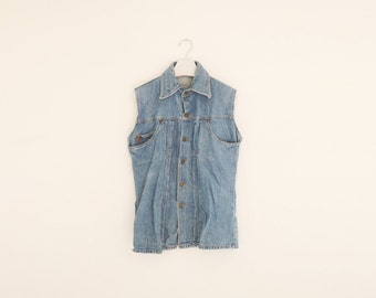 Vintage Levi's Blue Denim Cut Off Sleeves Jacket, Made in USA, Mens Medium / ITEM632