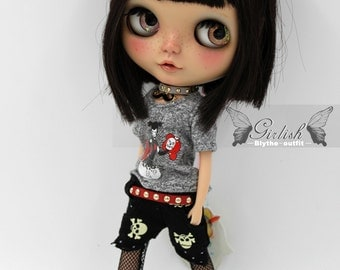 Girlish - Punk Girl Set for Blythe doll - dress / outfit