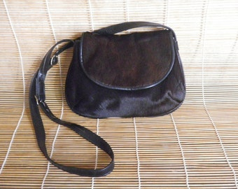 Vintage Small Size Pony Fur Shoulder Strap Bag