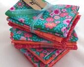 Quilt Fabric Bundle Pink Orange and Green Crazy Love- Choose Fat Quarters, Half Yards,