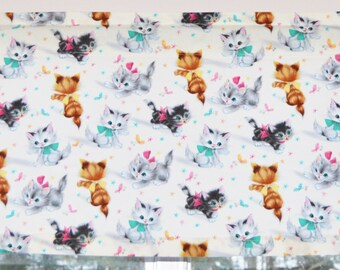 Vintage Kitties Kitchen Valance . Michael Miller Retro Print . Custom  Curtains . Handmade By Pretty