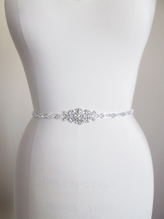 bridal belt swarovski crystal skinny bridal belt by