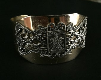 Vintage FRENCH SOUVENIR CUFF - Nice - Filigree