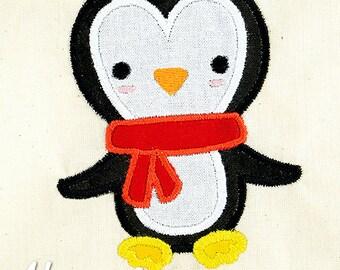Penguin Applique Embroidery Design, penguin applique, winter applique, machine embroidery, bird applique, penguin embroidery, cute penguin
