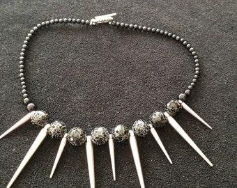 Bead and Metal Necklace