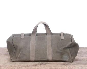 Vintage Military Canvas Tote Bag / Army Tool Bag / Medical Bag / Ammo Bag / Retro Military Bag / Authentic Vintage US Army Bag