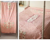 RESERVED 1940s Vintage Pink Chenille Bed Spread, Vintage Bedding, Vintage Pink Bedding