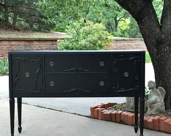 TV STAND Cabinet Console With Electronics Storage Custom Order A Re-purposed Antique Today ~ Painted Furniture Shabby Chic