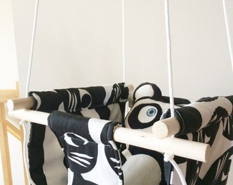 Choose your fabric - Baby and Toddler Swing - Fabric and Wood Interior Swing