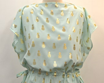 The Alice Silky Pineapple Blouse