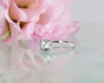 Engagement Ring, Promise Ring, April Birthstone Ring, Natural Gemstone Ring, Herkimer Diamond Ring