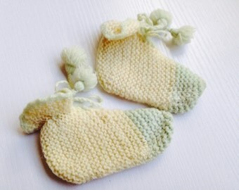 Vintage Knitted Baby Booties