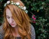 Wedding Floral Crown. Bohemian. spring, Woodland, Flower Hair Crown, Weddings, Bridal, Hair Accessories, bridal hair, bridal crown,