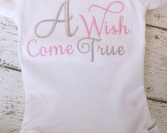 Newborn Girls Take home outfit for girls, Newborn Baby Girl Onesies® Brand coming home outfit,  A Wish Come True Newborn girl Onesies pink