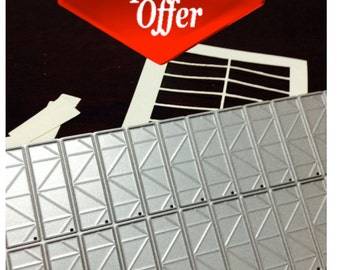 3D Origami easy folding paper cutting die! 1/4 size!  special offer. Savings 8.34 US