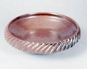 Will Swanson Studio Pottery, textured rim bowl