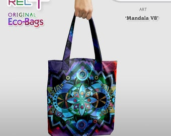 Mandala V8 * Eco Tote Bag : Original Print front and rear * High strength, durability, abrasion and water resistance. Unique Style & Fashion