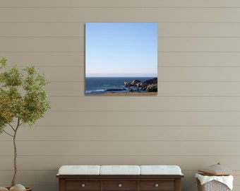 IN STOCK Off Off there Coast, Shoreline Landscape, Beach House Decor, Coastal Decor 8x8 Fine Art Photograph Home Wall Decor