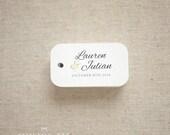 Botanical Wedding Favor Tags - Botanical Personalized Gift Tags- Custom Wedding Favor Tags- Bridal Shower Tags - Set of 40 (Item code: J556)