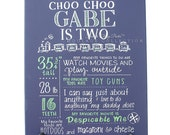 """ANY color background Favorite Things Poster™ on 16""""x20"""" canvas, custom birthday drawing [Gabe]"""