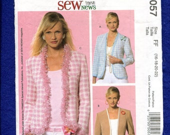McCall's 5057 Uptown Chic Jackets Pattern Size 16 to 22