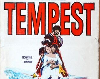 "Tempest.1959 Original 14""x22"" US Movie Poster. Romance. Van Heflin,Silvana Mangano,Viveca Lindfors (Catherine the Great),Agnas Moorehead."