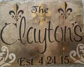 Custom Slate Name Sign