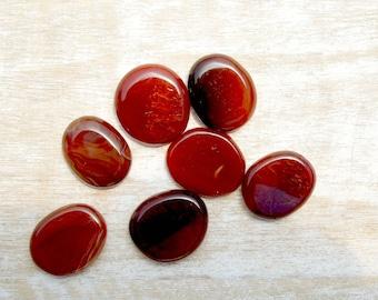 Carnelian Small Palm Stones / Mediation Stones / Worry Stone