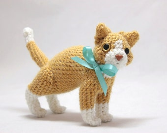Ginger and White Cat Doll