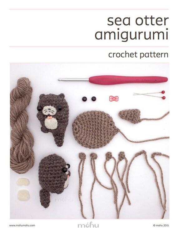 Free Amigurumi Otter Pattern : amigurumi pattern crochet otter pattern by mohustore on Etsy