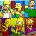 Simpsons Retro Art. Handmade Pixel Portraits. Perler Beads on Canvas.