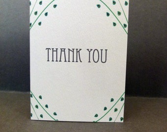 Thank you cards, Pack of 6 (Crawford range) Approx size when folded 90 x 122 mm